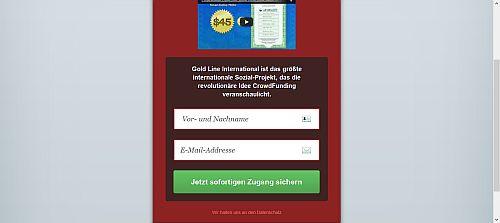Anmeldung zu Goldline International
