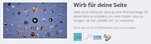 Facebook Werbung schalten und Deine Seite bewerben
