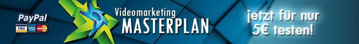 Videomarketing Masterplan für 5 Euro testen
