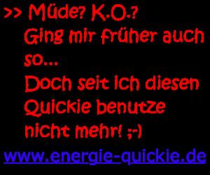 Energiequickies und bekomme wieder Mut, Motivation und Energie