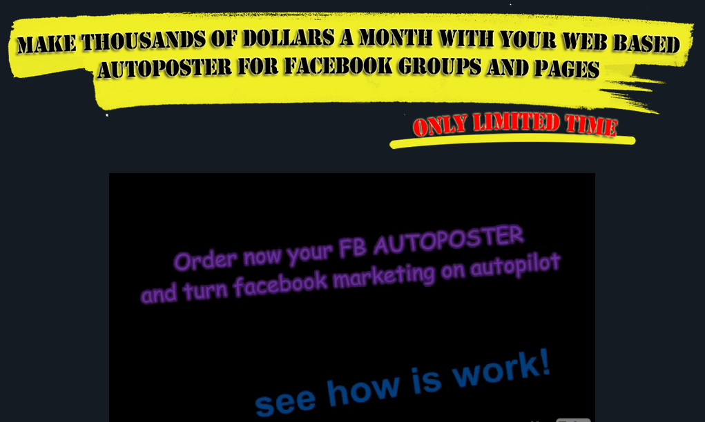 Facebook Autoposter for Facebook Groups and Fanpages